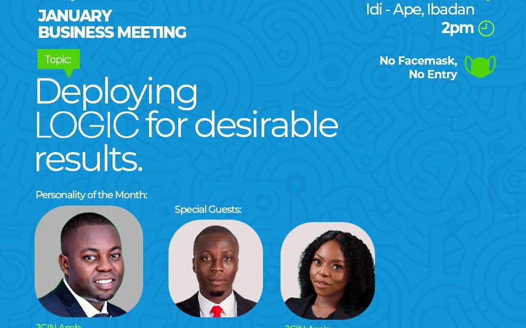 JCI IBADAN ELITE SET TO HOST JCI NIGERIA PRESIDENT AT JANUARY BUSINESS MEETING